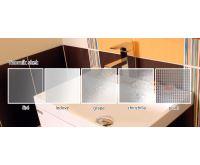 PROFI sprchový kout obdélníkový  100x90x185 cm - bílé - sklo - grape