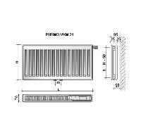 Radiátor VKM 21-600/ 700 - PURMO