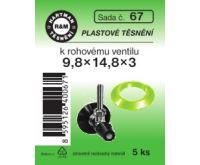 Hartman sada 67 plast.těs.T65 - 9.8x14.8x3 - 5x6010