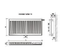 Radiátor VKM 11-600/2300 - PURMO