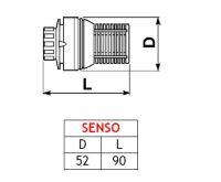 Termostatická hlavice COM SENSO (M30x1,5)