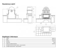 ABX Oxford -Kachlová pec pravá  hnědá | AKCE kazeta značkového vína