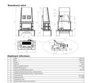ABX Laponie -Kachlová kamna s výměníkem 10kw hnědá | AKCE kazeta značkového vína
