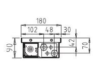 BOKI InFloor Podlahový konvektor F1P  90/180-1600mm - pozink S ventilátorem