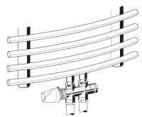 Honeywell Therafix Desing H-blok s termostat.ventilem přímý chrom