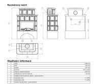 ABX Karelie -Kachlová kamna s výměníkem 7kw hnědá | AKCE kazeta značkového vína