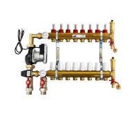 KIIPTHERM PROFI 5 -  8 okruhů, rozdělovač podlahového vytápění s čerpadlem, směšováním, hlavice a průtokom.