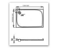 PROFI Vanička obdelník - litý mramor, 120x80x3 cm