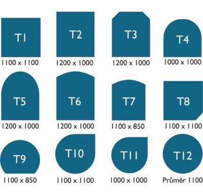 ABX Podkladové sklo pod kamna T 1