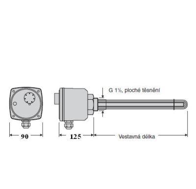 "Reflex TJ 6/4"" - 2,0 kW elektrické topné těleso"