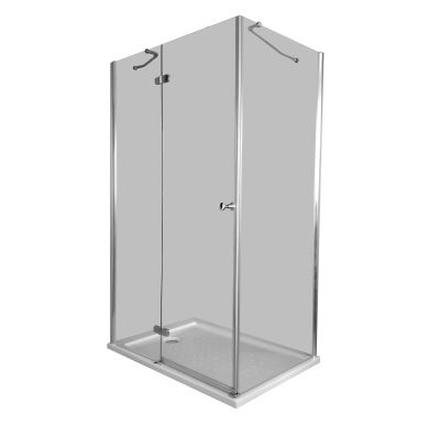 PROFI-RICH Sprchový kout čtvercový  80x80x190 chrom - sklo - čiré