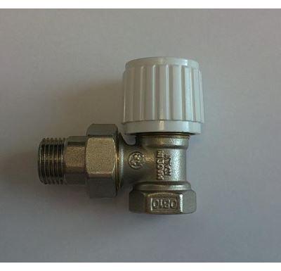 "Ruční radiátorový ventil rohový DN10-3/8"" s ucpávkou"