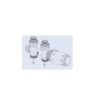 Radik armatura HM přímá - chromová termostatická hlavice