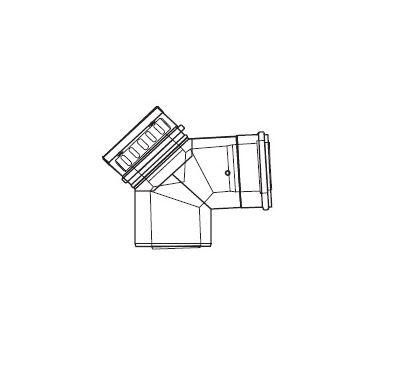 ALMEVA LIK revizní koleno 87° - 80/125