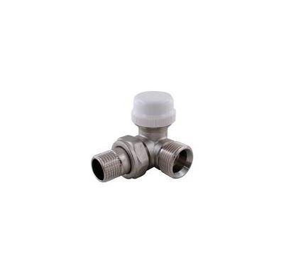 """IVR termostatický ventil rohový PRAVÝ DN 15 - 1/2"""" x 3/4"""" EK venkovní (pro žebříky)"""