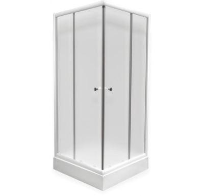PROFI sprchový kout čtvercový  100x100x185 cm - bílé - sklo - čiré