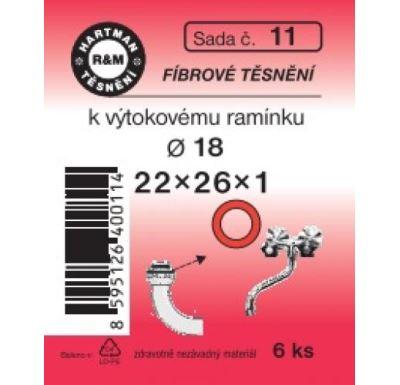 Hartman sada 11 fíbr.těsn.22x26x1 - 6x 1109