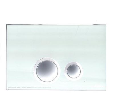 JOMO ovládací tlačítko ELEGANCE - sklo zelené/lesklý chrom