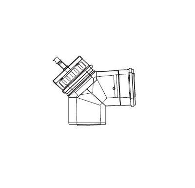 ALMEVA LIK revizní koleno 87° s měřícími otvory 80/125