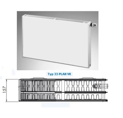 Radiátor PLAN VK 33-600/2000 - PURMO