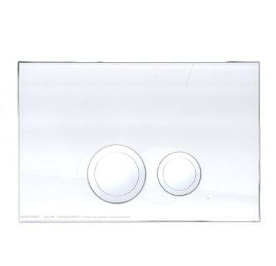 JOMO ovládací tlačítko AVANTGARDE - sklo bílé/lesklý chrom