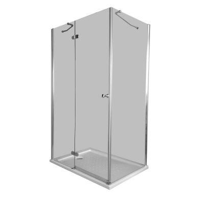 PROFI-RICH Sprchový kout obdélníkový  80x100x190 chrom - sklo - čiré