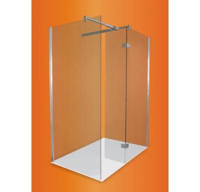 PROFI-RICH Sprchový kout průchozí  140x90x190 chrom - sklo - čiré