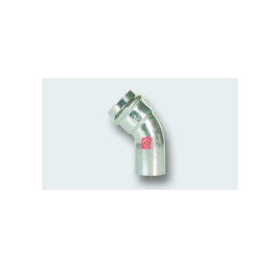 C-STEEL lisovací koleno MxF 45° - 76,1 vnitřní - vnější, uhlíková ocel