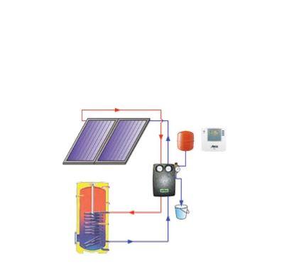 Reflex solární paket TV1 A - uchycení na šikmou profilovanou tašku