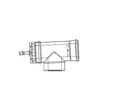 ALMEVA LIK revizní T-kus se změn.směru a měřícím otvorem 80/125