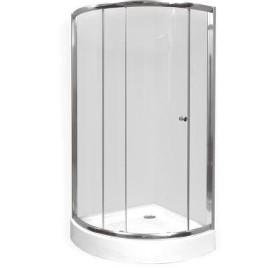 PROFI sprchový kout  čtvrtkruh  90x90x190 cm - chromm - sklo - čiré