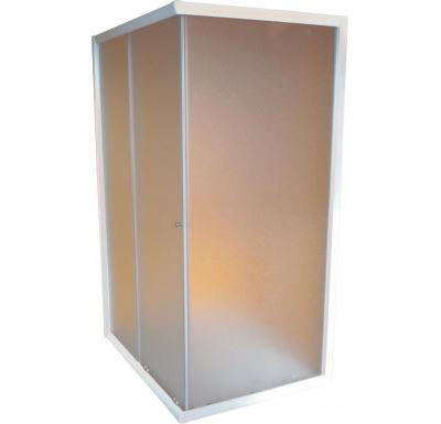 PROFI sprchový kout obdelníkový  100x80x185 cm - bílé - sklo - grape