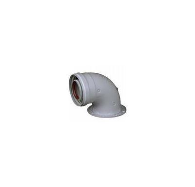 AZ univerzální Koleno s přírubou a měřícími otvory 60/100 - 90° DPV