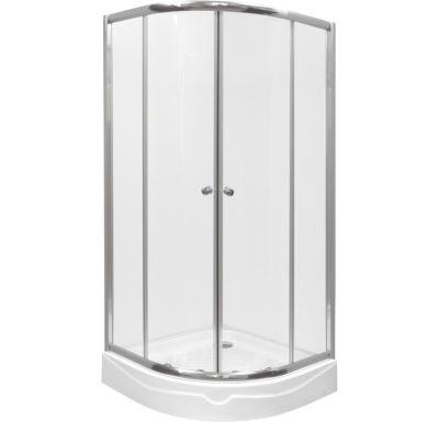 PROFI-RICH sprchový kout  čtvrtkruh  80x80x185 cm - chrom - sklo - grape