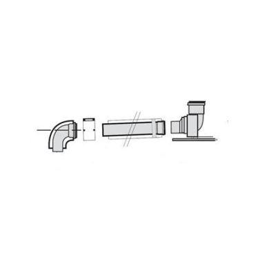 Vaillant Připojení na komín, šachtu 80/125 mm
