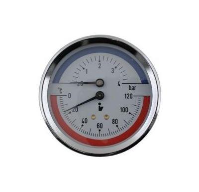 """Termomanometr 0-4 bar, 0-120°C, zadní vývod 1/2"""""""