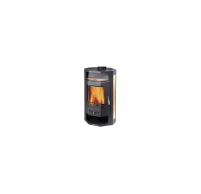 Haas+Sohn Bergamo Mini Krbová kamna - černá, béžová, dělené sklo