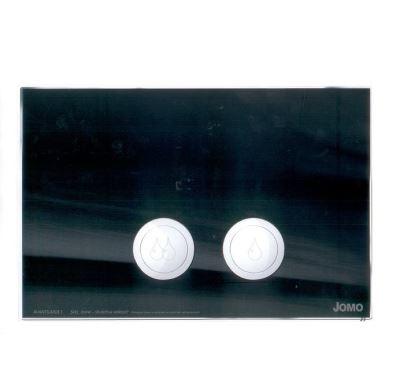 JOMO ovládací tlačítko AVANTGARDE - sklo černé/lesklý chrom