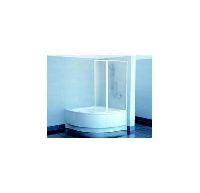 RAVAK Vanová zástěna VSK2 Gentiana/NewDay 150 R white+rain - dvoudílná
