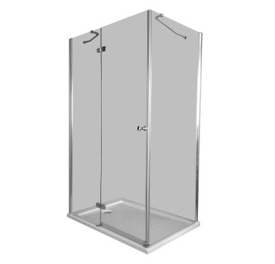 PROFI-RICH sprchový kout čtvercový  90x90x190 chrom - sklo - čiré