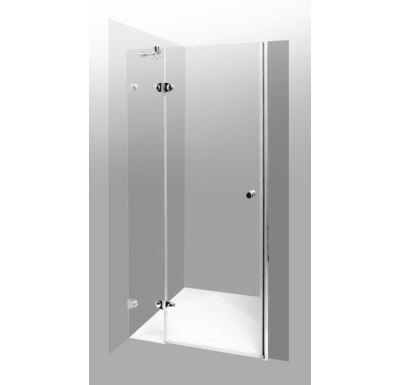 PROFI-RICH sprchové dveře  80x190 cm - chrom - sklo - čiré