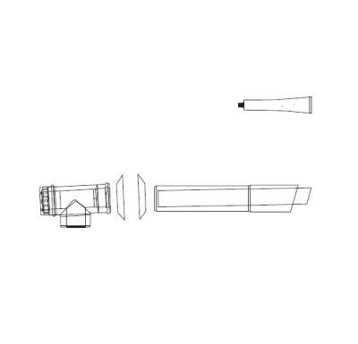 ALMEVA LIK sestava fasadního odkouření 1m 80/125