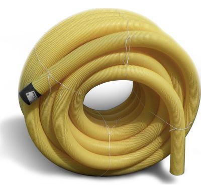 PVC drenážní trubka DN  80 žlutá děrovaná