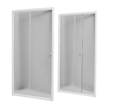 PROFI-RICH sprchové dveře  90x185 cm - bílé - sklo - čiré