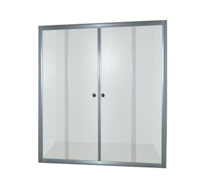PROFI-RICHI sprchové dveře 150x185 cm - chrom - sklo - čiré
