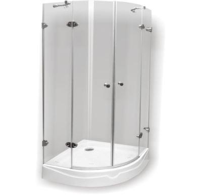 PROFI-RICH Sprchový kout  čtvrtkruh 90x90x190 ledové