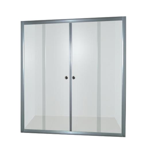 PROFI sprchové dveře 140x185 cm - chrom - sklo - čiré