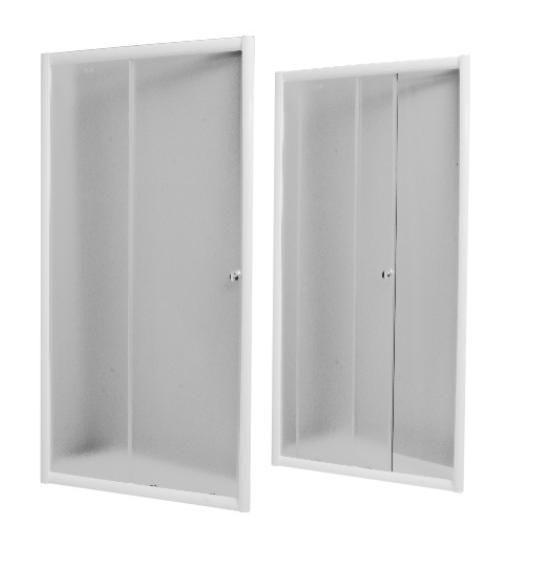 PROFI sprchové dveře 100x185 cm - bílé - sklo - čiré