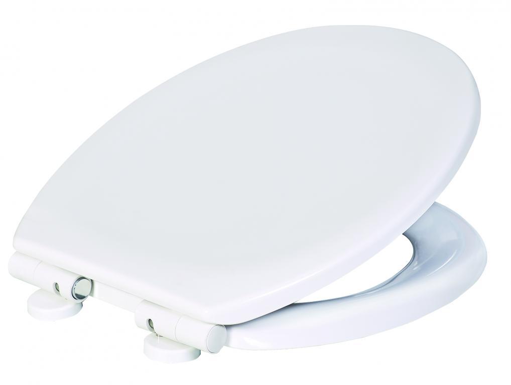 Sedátko WC, duroplast,SAMOZAVÍRACÍ, bílé, s odnímatelnými panty CLICK