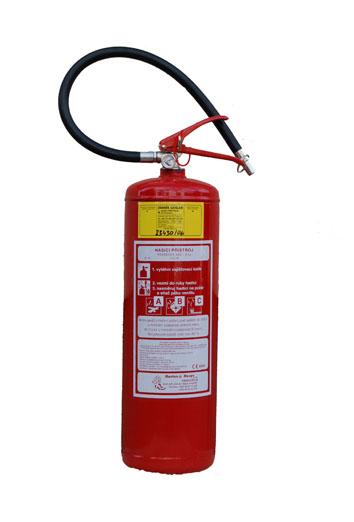 Práškový hasicí přístroj P6Te